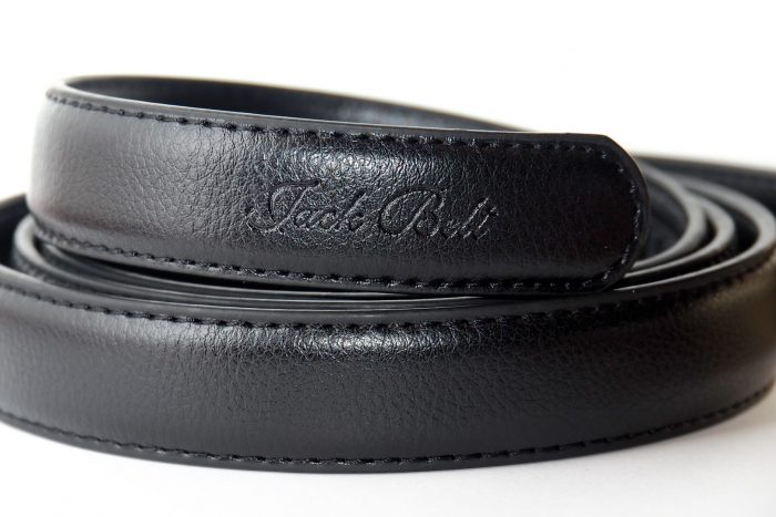 Black Slim Leather Jack Belt